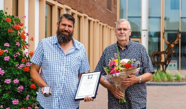 Remco Kompier met zijn vader. Fokko Everts © BDU Media