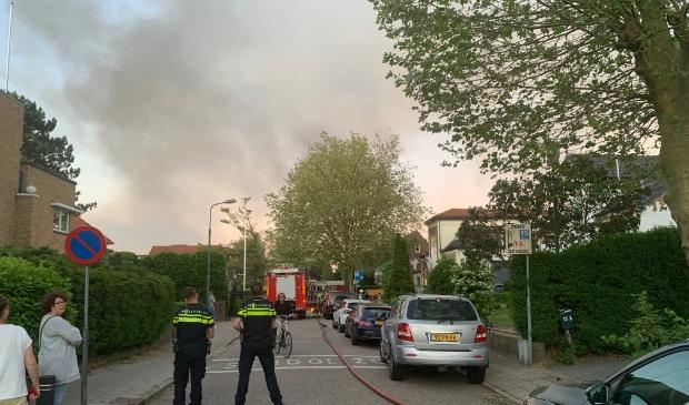 Grote rookontwikkeling in het centrum van Baarn. Baarnsche Courant  © BDU media