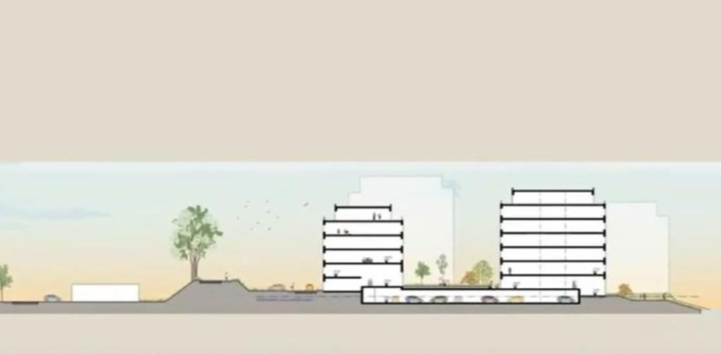 Appartementencomplexen met zes bouwlagen aan de Lingeoever Gemeente Gorinchem © BDU Media