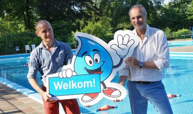 Links Gies Voorburg en rechts Emile Bakker