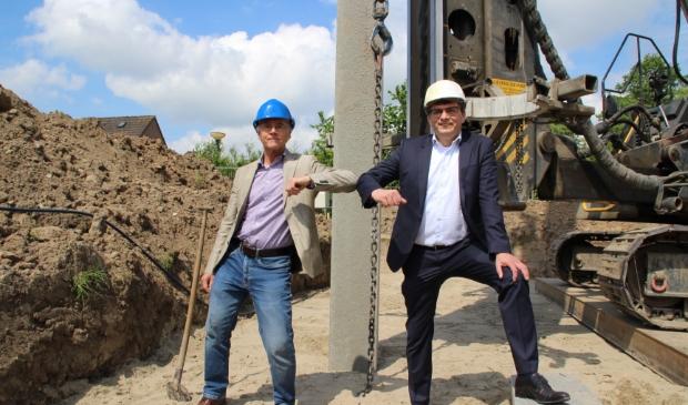 <p>Paul Heijmerink (wethouder Bunnik) en Ed de Groot (directeur-bestuurder LEKSTEDEwonen) </p>