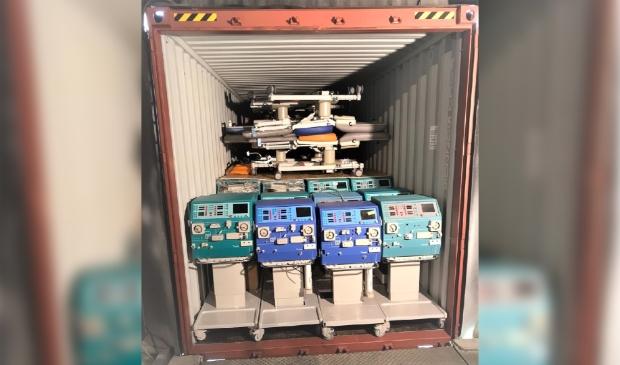 Volle 40ft container klaar voor vertrek