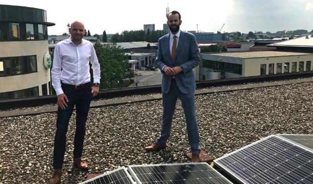 <p>Wethouder Joost van der Geest (r.) en Jan van Wijgerden, ondernemer en voorzitter Stichting Economische Ontwikkeling Gorinchem </p>