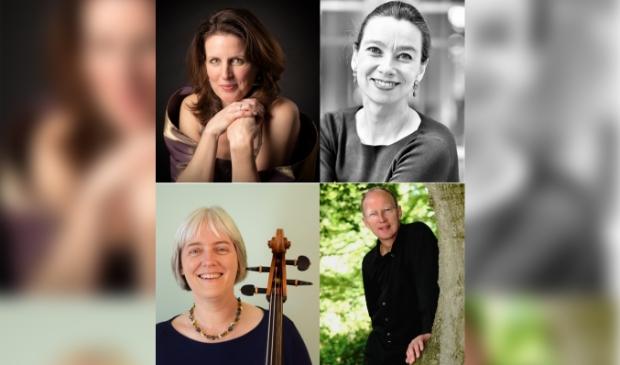 Het Bernini Ensemble -  Arleen van Wijland (sopraan), Anne-Marieke Evers (mezzosopraan), Elske Tinbergen (cello), Henk van Zonneveld (orgel)