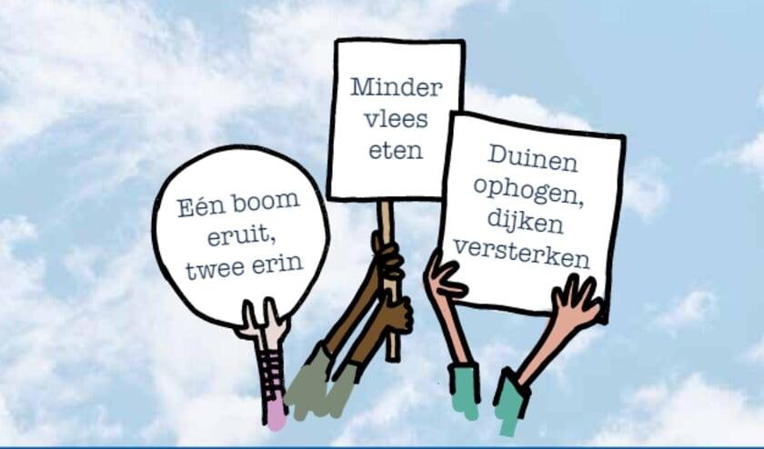 Kinderen overhandigen allereerste Kinderklimaatakkoord in Den Haag
