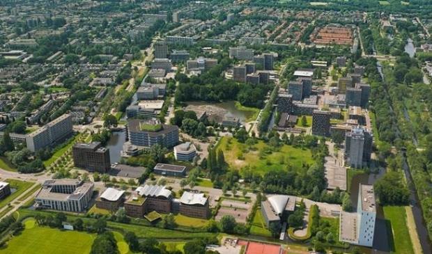 <p>Kantorenwiik Kronenburg vanuit de lucht gezien.</p>