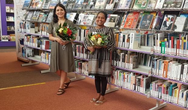 Eliana de la Rosa en Kibra Gebreslasie zijn geslaagd voor Entreeopleiding.