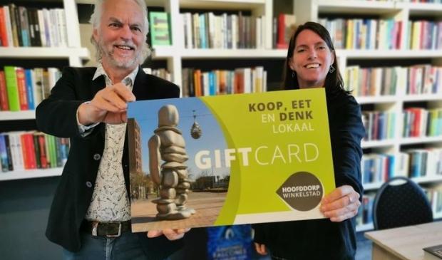 De Hoofddorp Winkelstad Giftcard onder andere bij Boekhandel Stevens te koop.