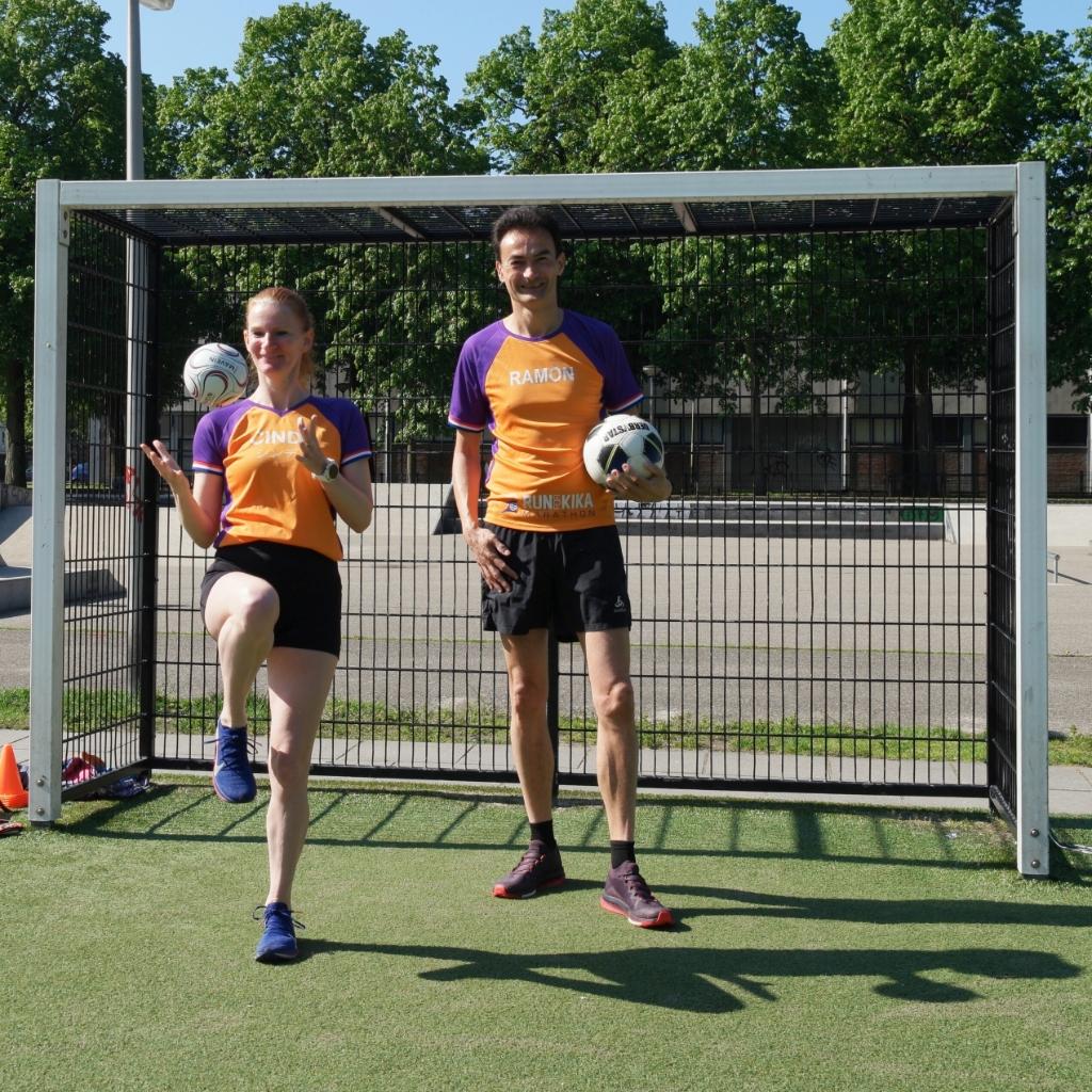 Cindy en Ramon marathon lopers voor KiKa Onbekend © BDU media