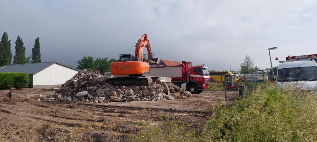 Panden Jan Tijmensteeg 5-7 aan het einde van de sloop (juni 2021). Marco Bakker © BDU Media