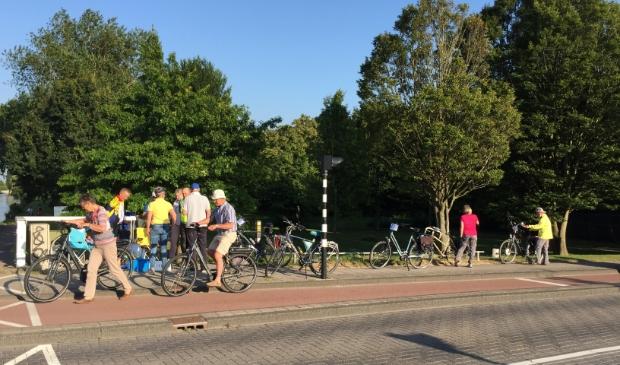 Stempelpost met e-bikes