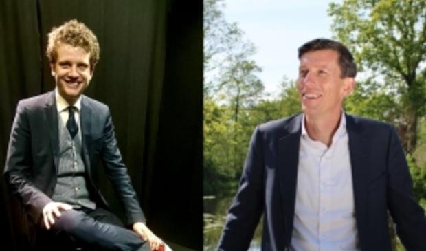 <p>Huidig fractievoorzitter Tyas Bijlholt en voormalig raadslid Wytse Dassen.</p>