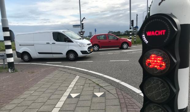 <p>Een fietsersknopje op de Rijnlanderweg.</p>
