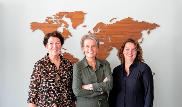 v.l.n.r. Tanja Spoelder, Marieke Hagen en Miranda van den Hoff