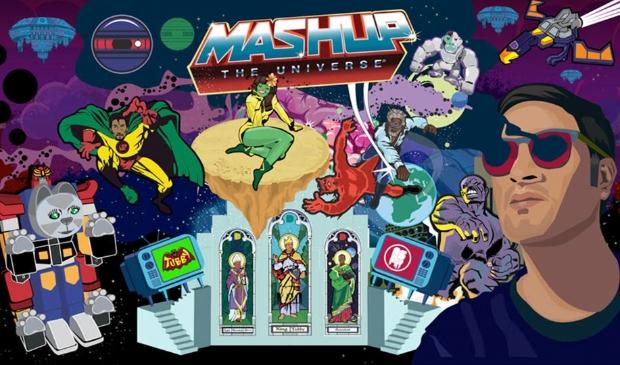 Affiche van Mash up the Universe expositie