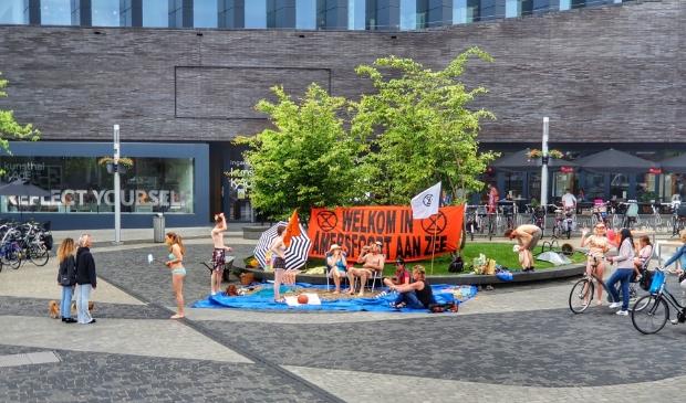 <p>De demonstranten vragen aandacht voor de gevolgen van de klimaatverandering</p>