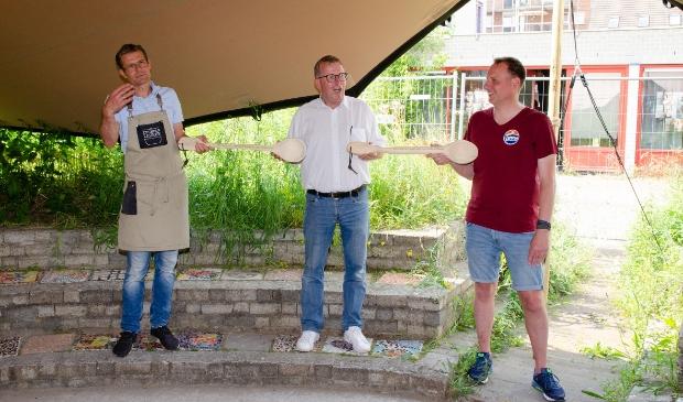 <ol><li>Van L naar R: Stefan Hogervorst (Deksels Maatwerk), William van Rijnsoever (ex-voorzitter ZZP Houten e.o.) en Guido Tettelaar (de Krachtfabriek)</li></ol>