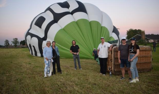 <p>De ballon is veilig geland.</p>