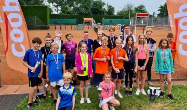 Blije gezichten bij btv De Geeren jeugd clubkampioenschappen 2021