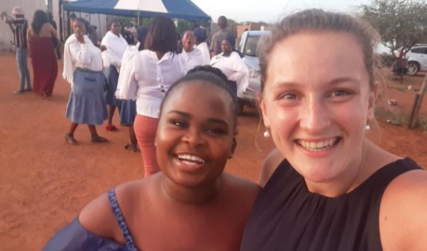 Daniëlle als maatschappelijk werker verbonden aan een crisis zwangerschapscentrum in Zuid-Afrika