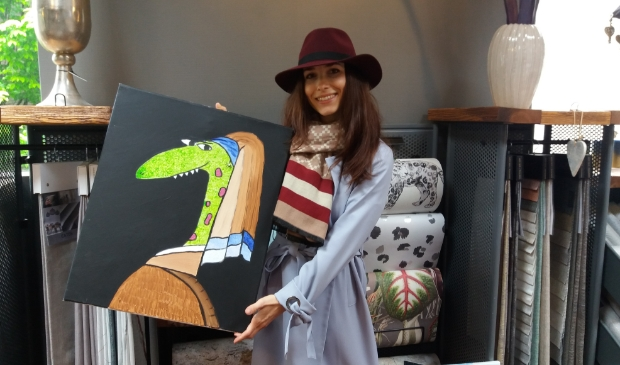 <p>Barbora met een van de Frunnies; Krokodilla.</p>