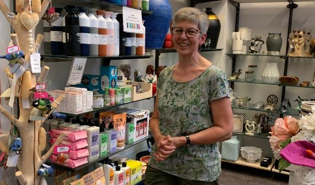 <p>Ginny Mulder, nieuwe voorzitter Wereldwinkel Houten</p>