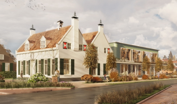 <p>De artist impression van Zecc Architecten van het nieuwe gemeentehuis van Renswoude.</p>