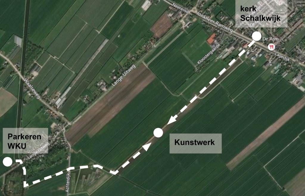 De route naar het kunstwerk Stichting Lunet aan de Snel © BDU media