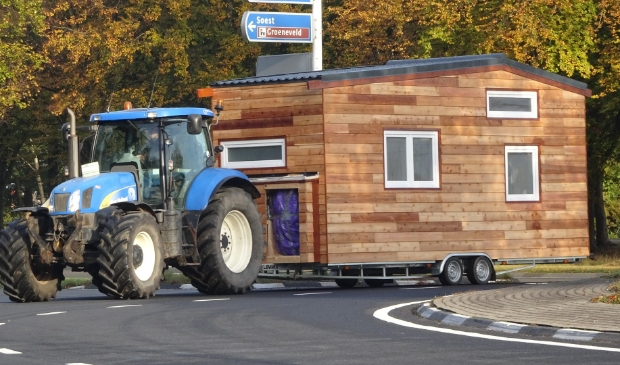 Tiny House tijdens vervoer