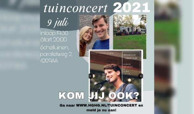 Aankondiging van een Christelijke concert avond