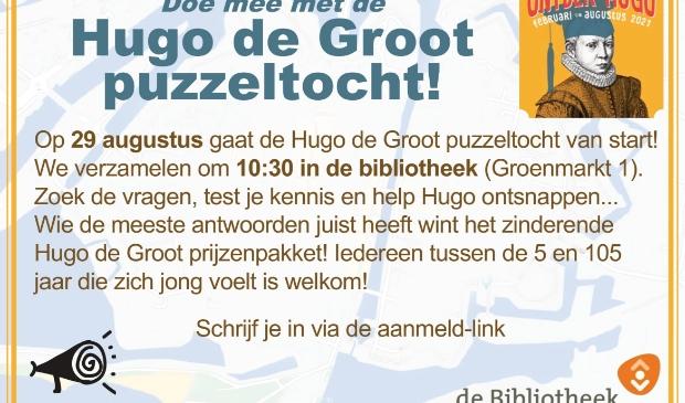 Aankondiging Hugo de Groot Puzzeltocht