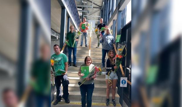 De 7 werknemers die op 8 juli een praktijkverklaring hebben ontvangen