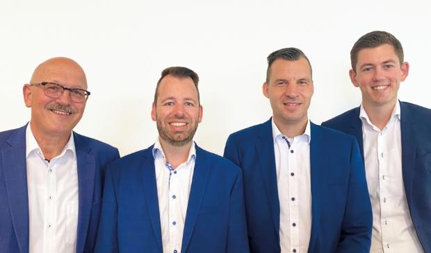 <p>V.l.n.r. Gerard de Gans, Dirkjan Hoekmeijer, Tim K&ouml;nemann, Tijmen Griffioen </p>