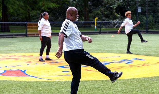 Oldstars in het Soesterkwartier aan het sporten. Oldstars in de wijk © BDU media