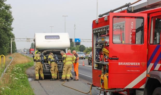 <p>De brandweer heeft de camper geblust.</p>