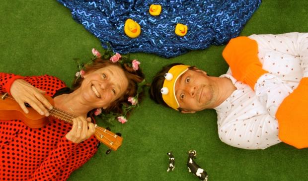 Sesamstraatacteurs Arjan en Renee