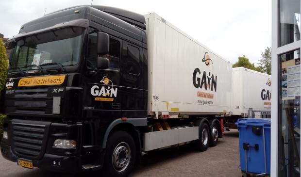 Transportcombinatie van Gain die op Oost Europa rijdt