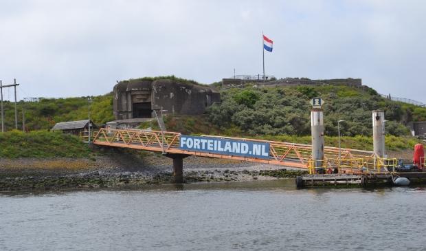 <p>Forteiland IJmuiden.</p>