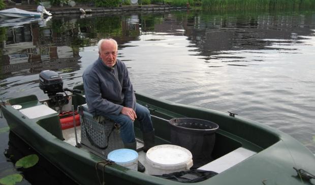 Jan de Goei, winnaar bij de boten met 4244 gram