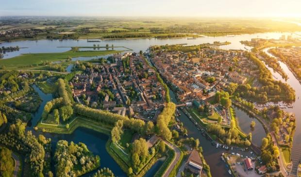 <p>Vestingstad Gorinchem is onderdeel van het Werelderfgoed Hollandse Waterlinies</p>