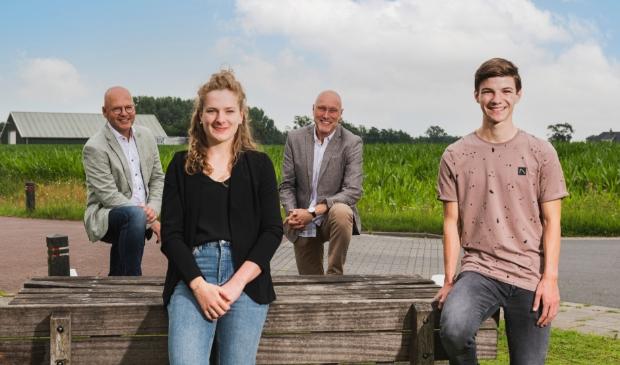 Van links naar Rechts: Kees Blotenburg, Marit van Beijnum, Hans Koopman, Corné van Doorn