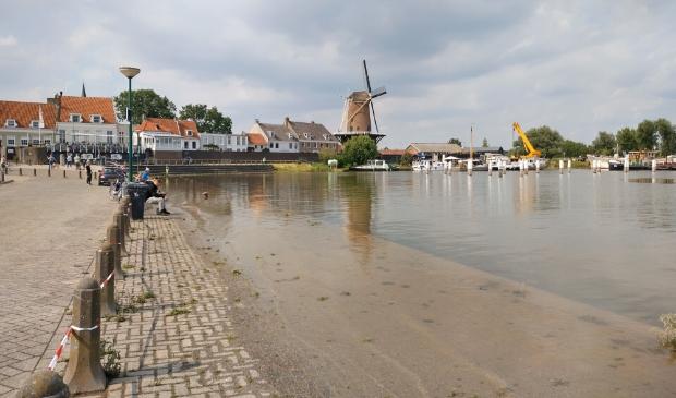 Wijk bij Duurstede en het terugtrekkende water (21 juli 2021)
