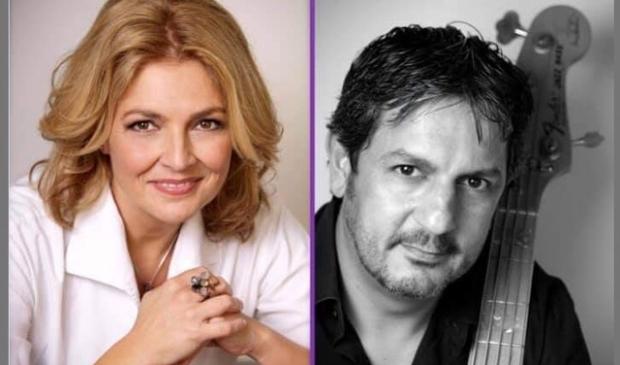 Dirigent Linda Caminita en muzikaal begeleider Giovanni Caminita