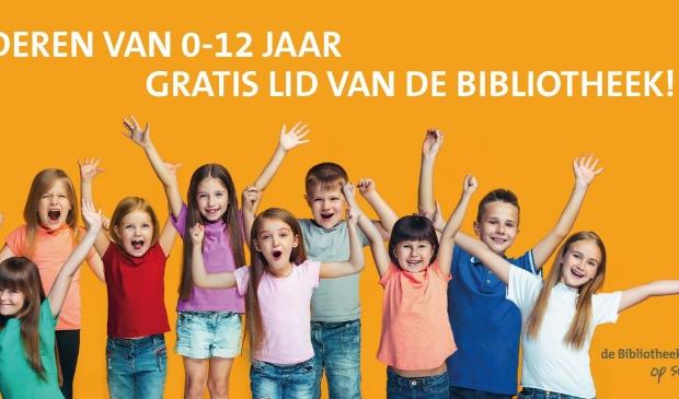 Kinderen van 0-12 jaar gratis lid van de Bibliotheek