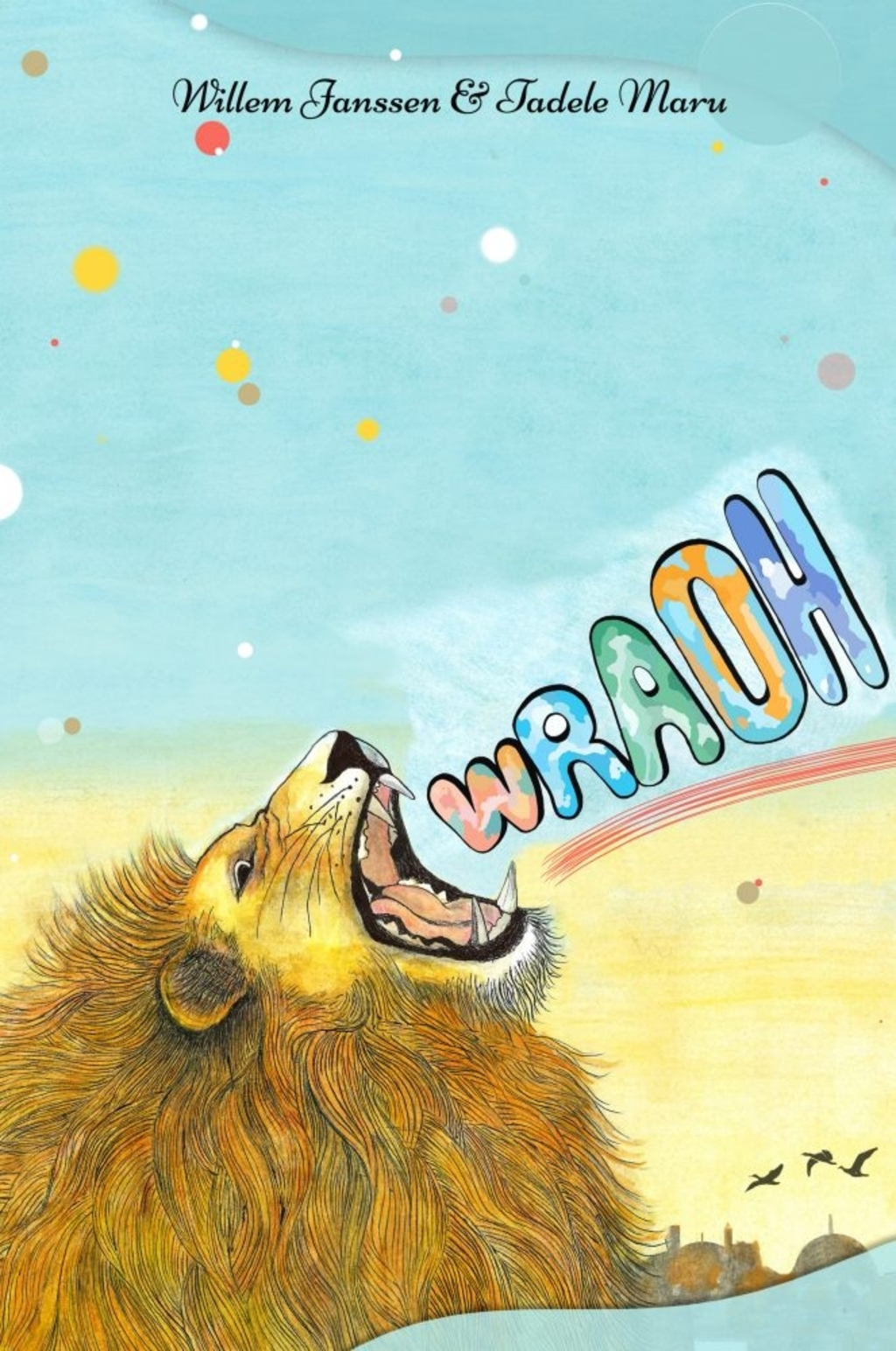 De cover van het prentenboek ?roah'. Illustratie; Tadele Maru © BDU media