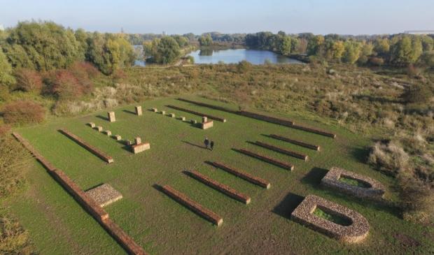 Het castellum in Meinerswijk, Castra Herculis, is een Romeins fort dat ondergronds goed bewaard is gebleven. Het is een van de forten van de Neder-Germaanse-Limes. De contouren zijn bovengronds zichtbaar gemaakt. NLS © BDU media