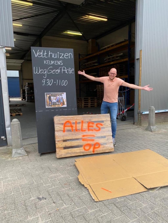 Na een half uur waren alle onderdelen en apparaten vergeven. Johan van Velthuizen © BDU media
