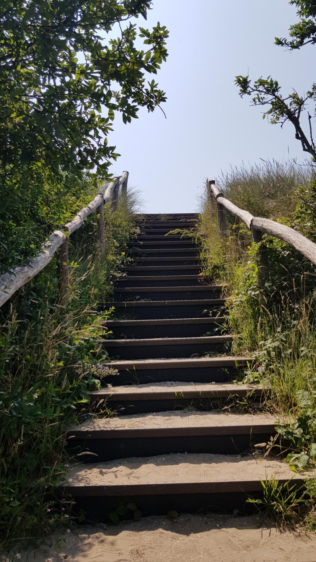 De trap richting het uitkijkpunt op de Hazenberg. Mariëlle Tukker © BDU Media