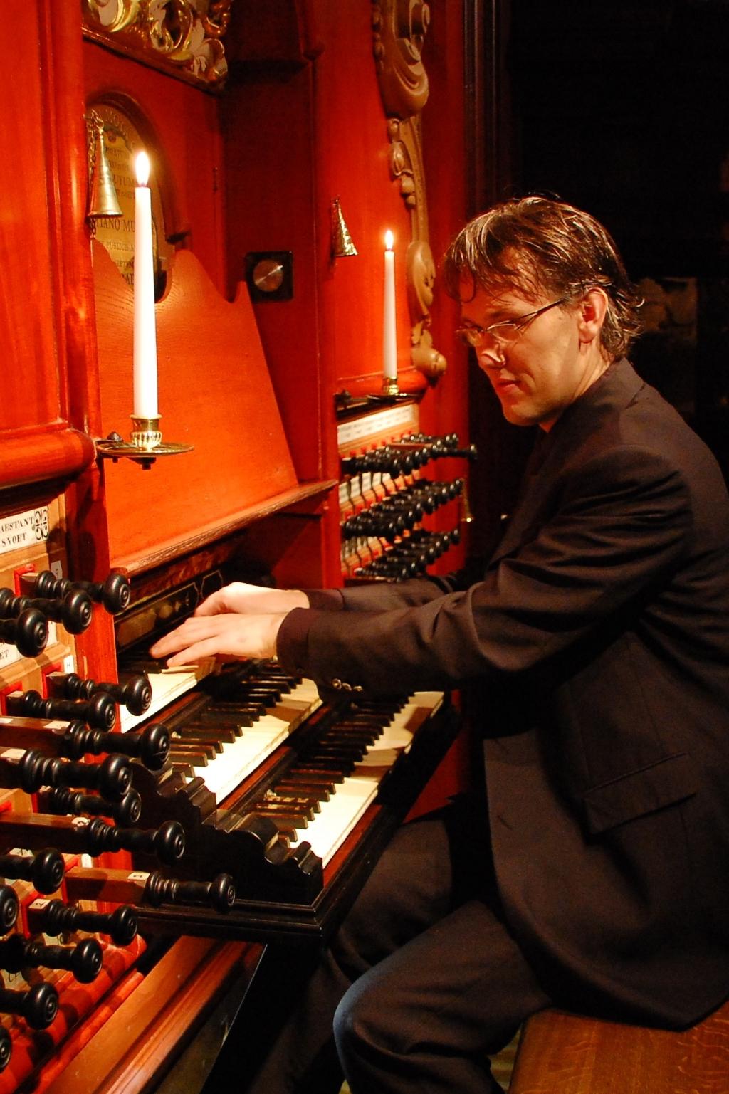 Organist Marco den Toom Eigen foto © BDU media
