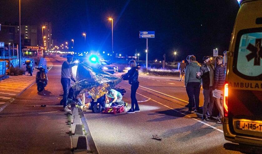 Scooterrijder zwaargewond bij valpartij op Boulevard